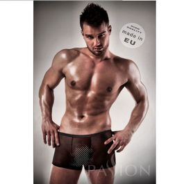 BOXER NEGRO 025 TRANSPARENTE BY PASSION MEN S/M