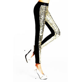 QUEEN LINGERIE LEGGING LENTEJUELAS GOLDEN