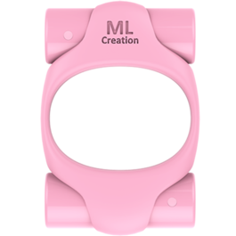 ML CREATION POTENTE ANILLO VIBRADOR RECARGABLE ROSA