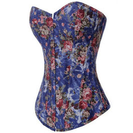 QUEEN CORSETS FLOWER BLUE SIZE S