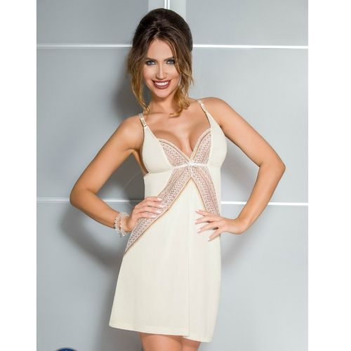CASMIR CHEMISE CONNIE COLOR CREMA TALLA S/M