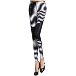 QUEEN LINGERIE LEGGING BLACK & WHITE