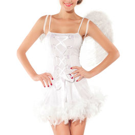 QUEEN COSTUME SEXY ANGEL BLANCO TALLA UNICA