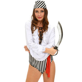 QUEEN COSTUME SEXY SET PIRATA 3 PCS TALLA M
