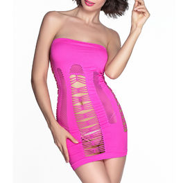 QUEEN VESTIDO ROSA INTENSO TALLA UNICA