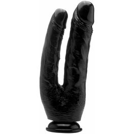 REAL ROCK DOUBLE COCK NEGRO / ANAL 17.5 VAGINAL 15CM