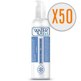 WATERFEEL LUBRICANTE EFECTO FRIO 150ML PACK 50 UDS
