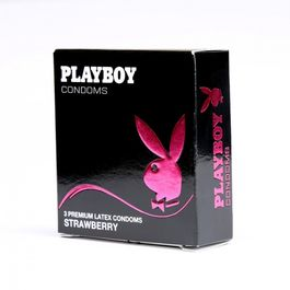 PLAYBOY CONDÓN FRESA 54MM 3 UDS