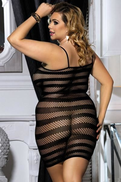 QUEEN PLUS SIZE VESTIDO DE RED XL NEGRO