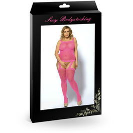 QUEEN BODYSTOCKING TALLA GRANDE ROSA XL
