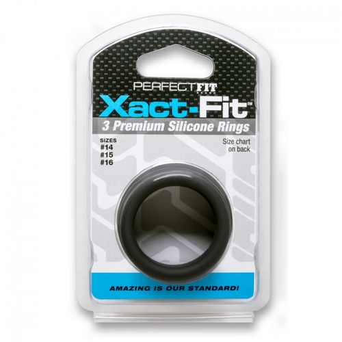 PERFECT FIT XACT FIT KIT 3 ANILLOS DE SILICONA - 3.5 CM, 3.8 CM Y 4 CM
