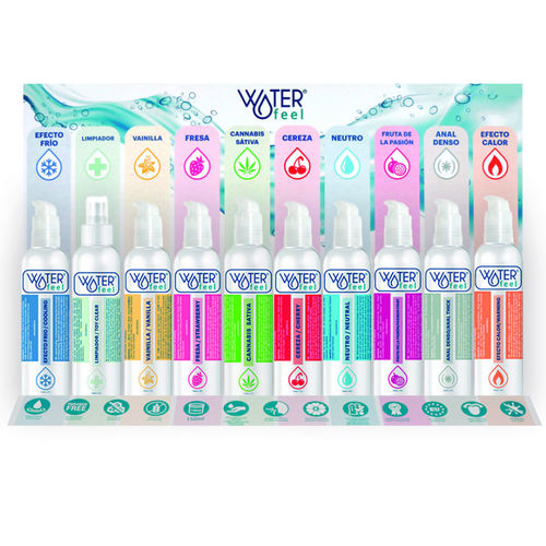 DISPLAY WATERFEEL CON TESTERS GRATIS