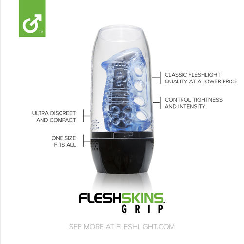 FLESHSKINS BLUE ICE WITH CASE